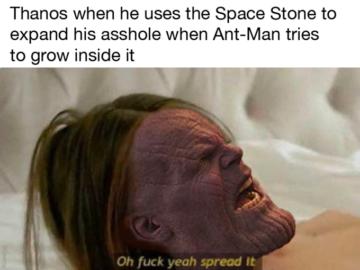 Человек-муравей в заднице Таноса