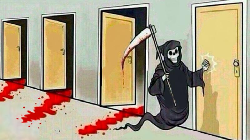 Смерть стучится в двери шаблон