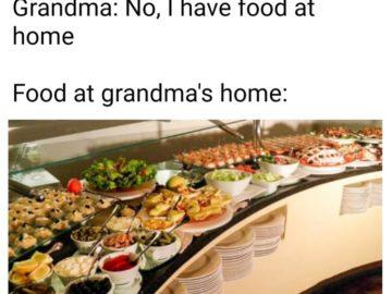 У нас есть еда дома