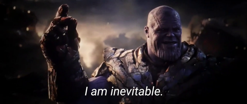 Я неотвратимость - мем с Таносом