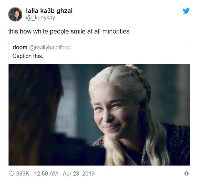 Дейнерис улыбается