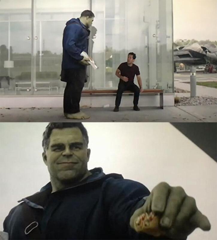 Халк дает Человеку-Муравью тако