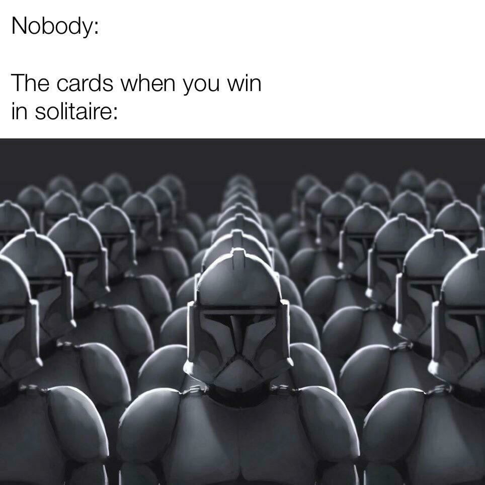 """Карты, когда выигрываешь в """"Косынку"""""""