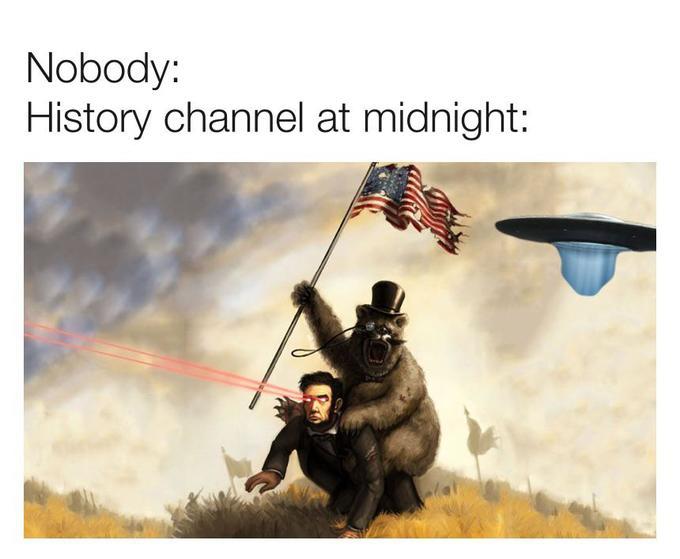 Псевдонаучные каналы ночью