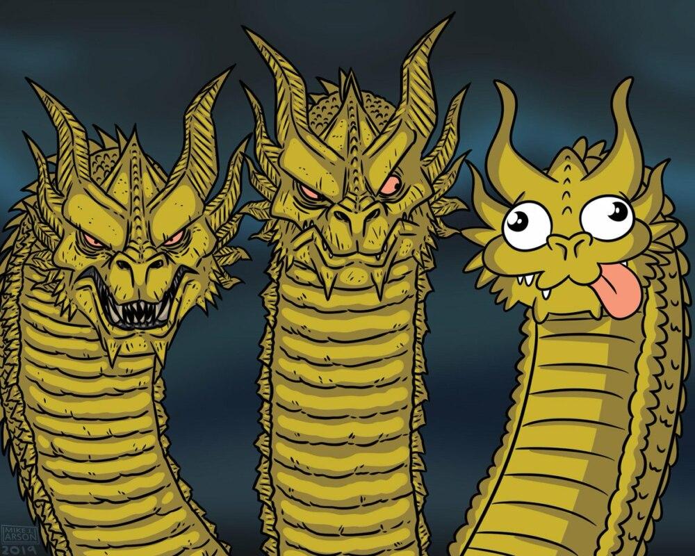 King Ghidora meme template