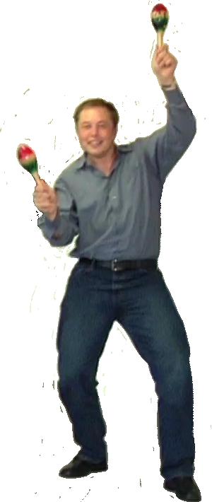 Илон Маск с маракасами шаблон