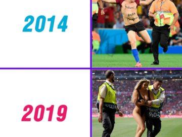 Мемы про Кинси Волански в купальнике на финале Лиги Чемпионов