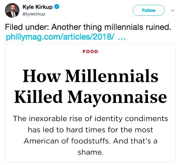 How millenials killed mayonnaise
