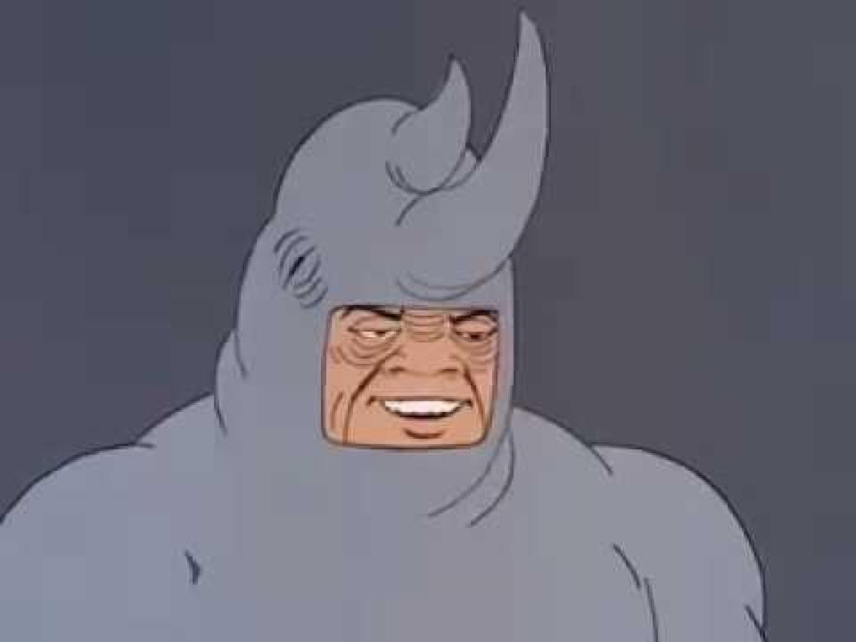 Носорог мем шаблон