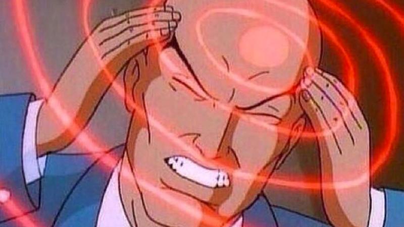 Профессор Икс и круги над головой