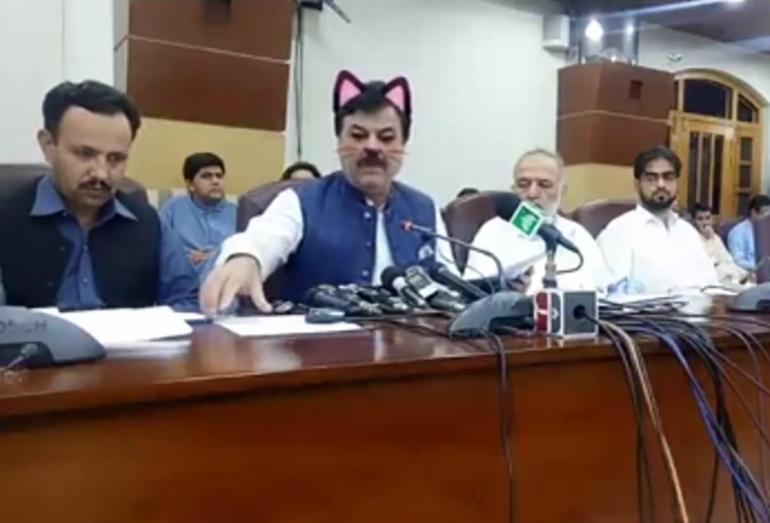 Правительство Пакистана с кошачьими ушками
