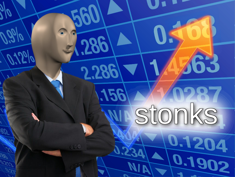 Stonks meme template