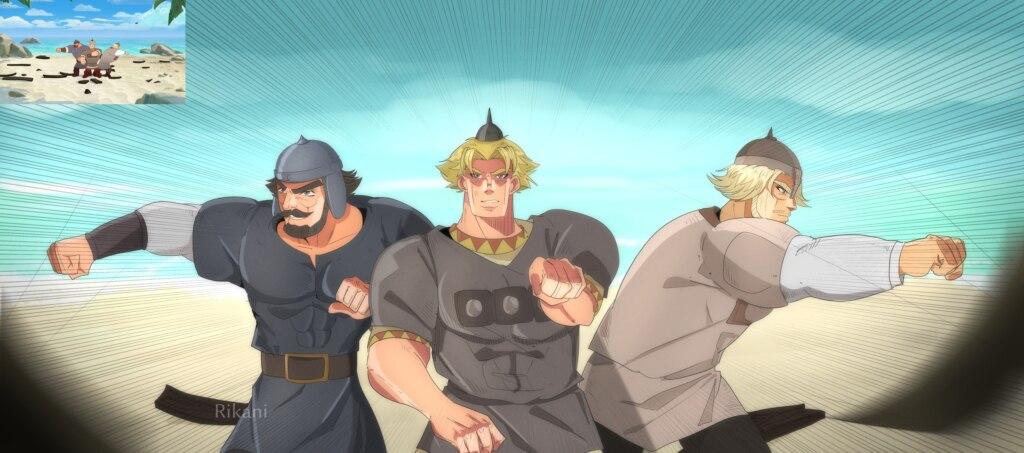 Аниме-версии героев российских мультиков