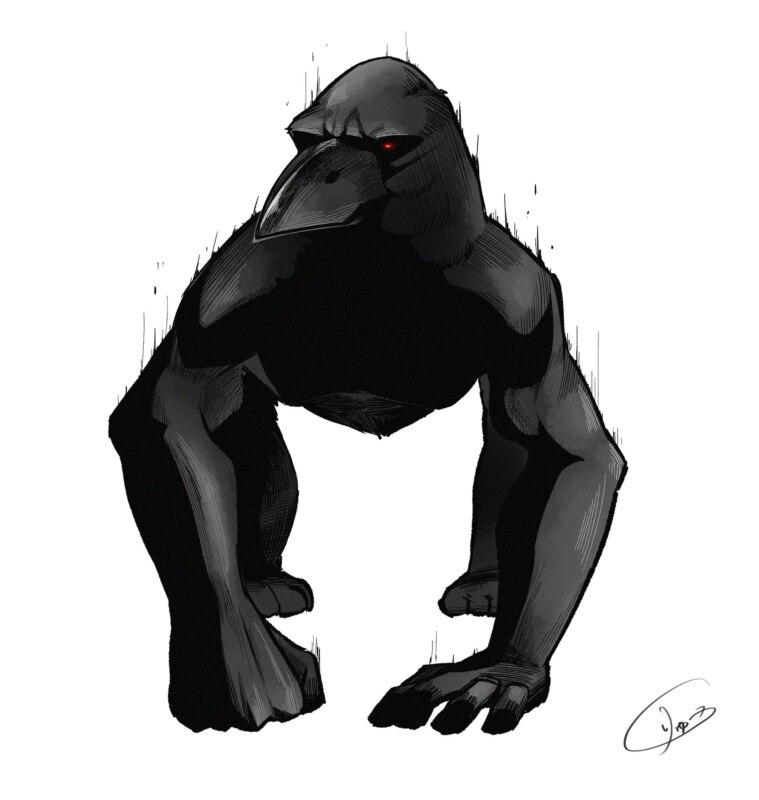 gorilla crow