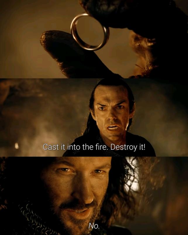 Брось это в огонь, уничтожь его