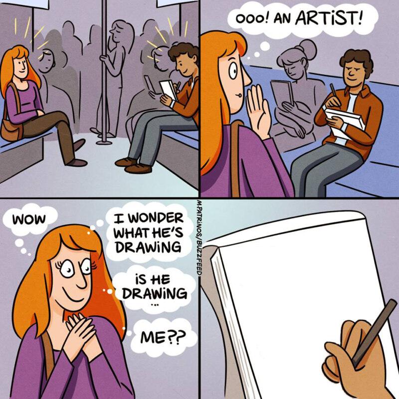 Интересно что он рисует мем