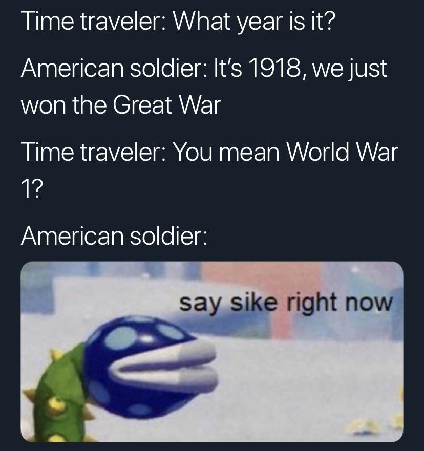 Time traveler meme