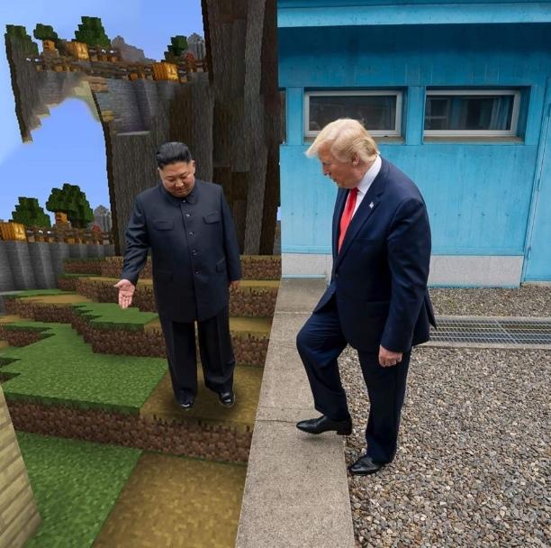 Трамп на границе мем