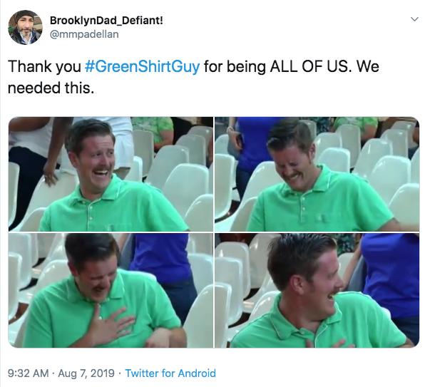 Парень в зеленой футболке