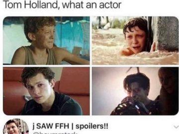 Том Холланд плачет