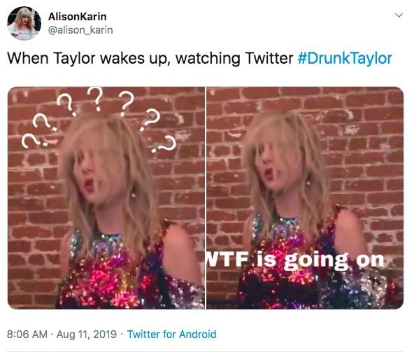 Пьяная Тейлор Свифт