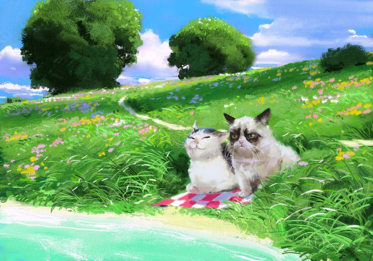 картины с мемными котами