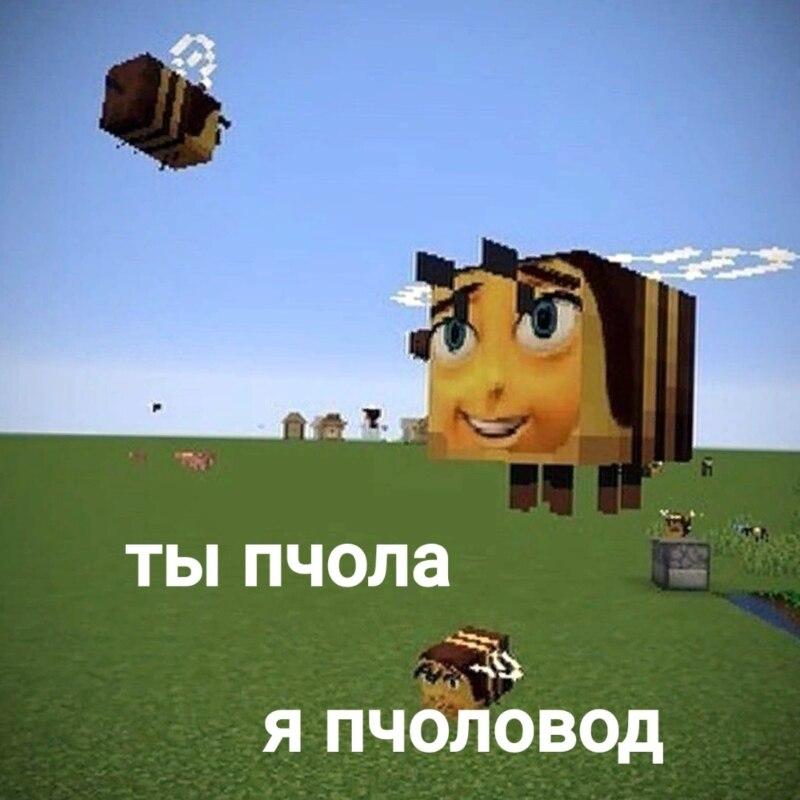 Пчела из Майнкрафта мем