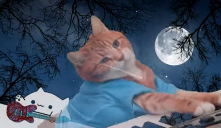 Мемные коты под песню Dancing in the Moonlight