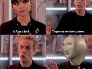 """Зависит от контекста - мем из сериала """"Доктор Кто"""""""