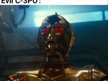 C-3PO с красными глазами