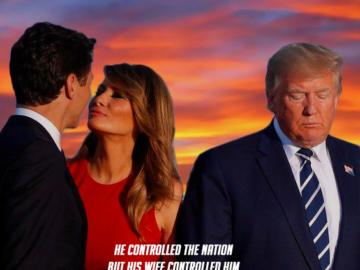Мелания Трамп целует Джастина Трюдо