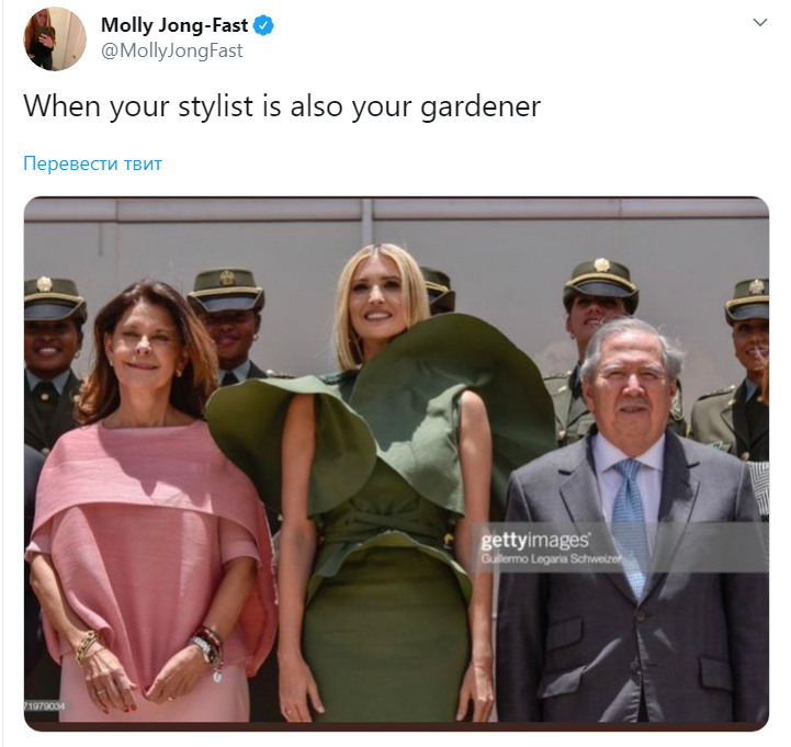 Иванка Трамп в нелепом платье