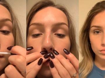 Девушки меняют форму губ с помощью клея