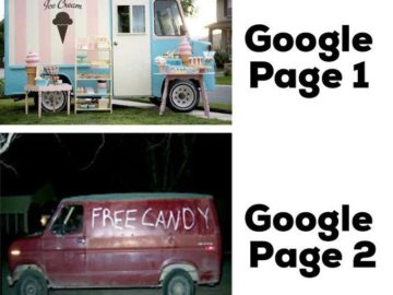 Вторая страница Гугла