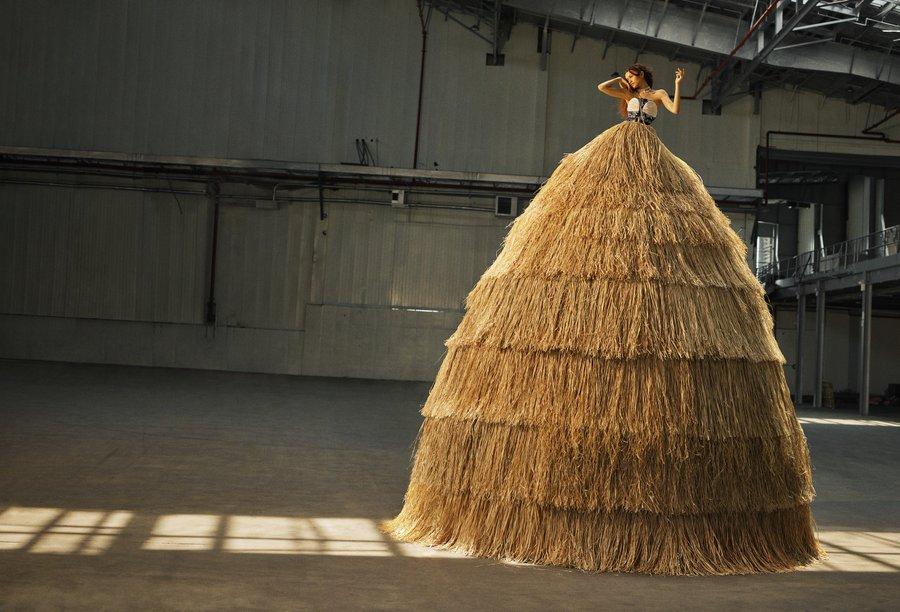 Зендая в стоге сена