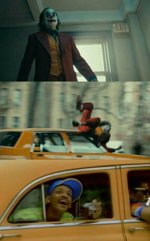 Джокера сбивает машина