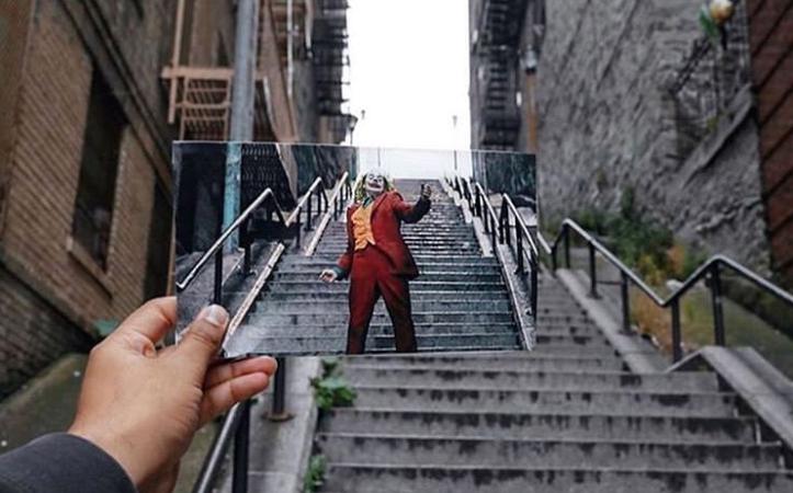 Лестницу, на которой танцевал Джокер, нашли в Google Картах. И снова превратили в мем