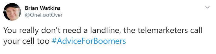 #AdviceForBoomers
