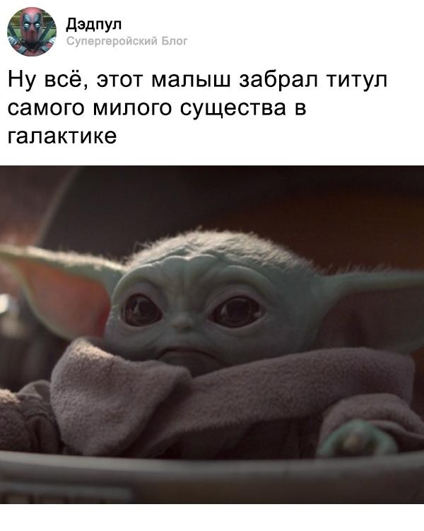 Маленький Йода из сериала Мандалорец