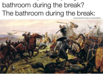 Туалет во время перемены