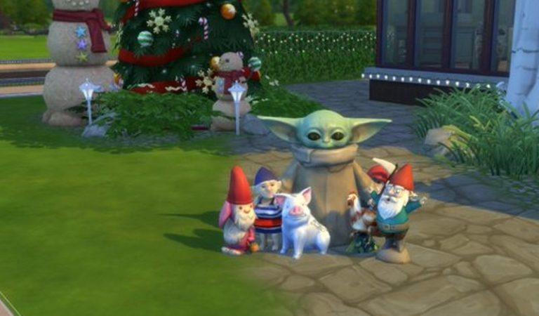 Малыша Йоду добавили в Sims 4. Фанаты завалили им свои виртуальные дома