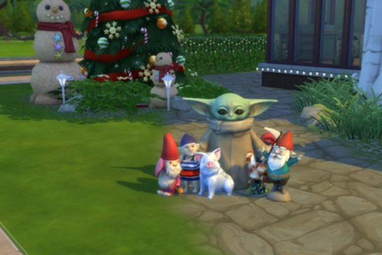 Малыша Йоду добавили в Sims 4