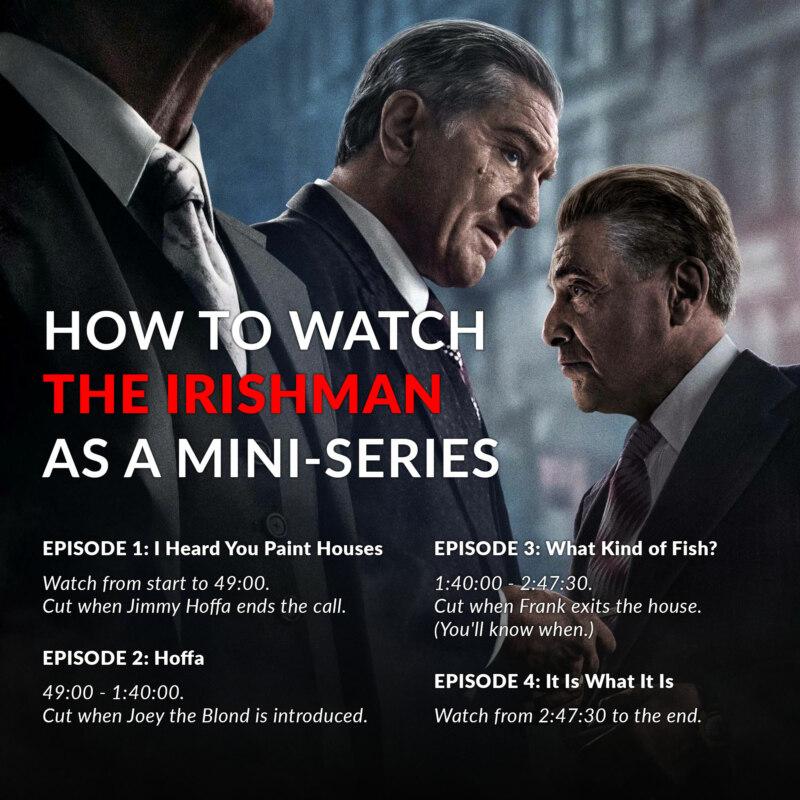 Как смотреть Ирландца Скорсезе
