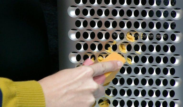 Apple Mac Pro испытали в качестве тёрки для сыра. Пиццу с ним не приготовишь