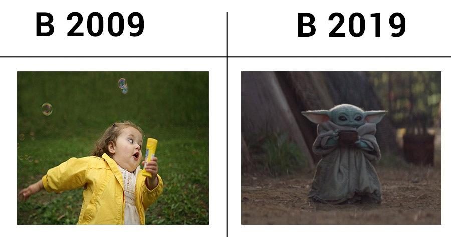 мемы 2009 и 2019