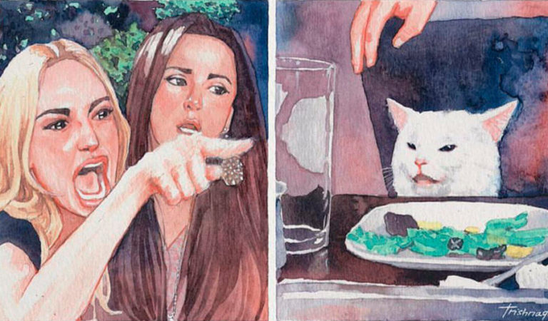 «Этот мем никогда не умрет». 60 лучших воплощений мема с озадаченным котом