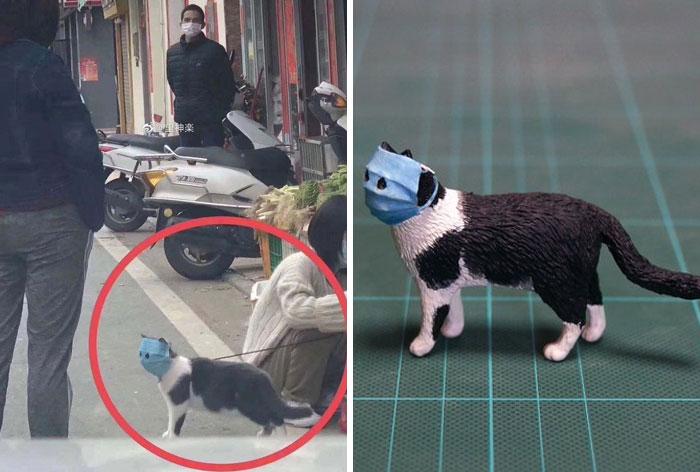 Японский скульптор лепит смешных животных
