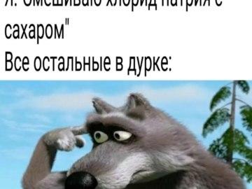 Волк крутит пальцем у виска