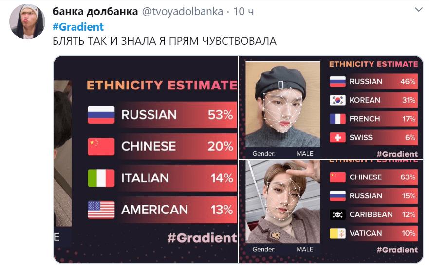 Градиент кто ты по национальности
