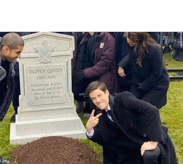 Парень у могилы, Грант Гастин у могилы мем